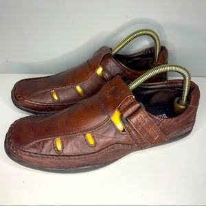 Buckaroo Leather Shoes Sneakers Size 41  Or 8,5 Low Top Brown Very Rare